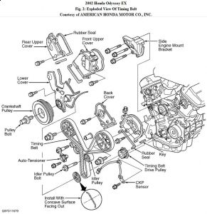 Shift Light Wiring Diagram Honda in addition Toyota Sienna Rear Blower Motor Location likewise Toyota 1mzfe Timing Belt Replacement Camry Avalon Es300 together with 02 Accord Dealer Claims Oilpump Leak Needs Timing Belt Replaced B C Oil 3105579 as well Timing Belts. on 2007 honda odyssey timing marks
